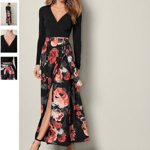 VENUS Printed Wrap Dress, Floral NWOT